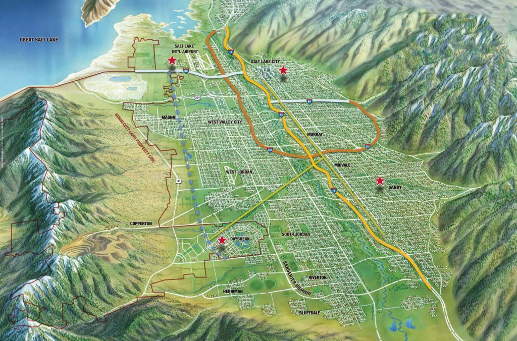 Salt Lake Valley Transportation Map